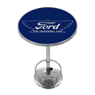 Ford 27.375 in. L The Universal Car Pub Table in Chrome FD2000 UC