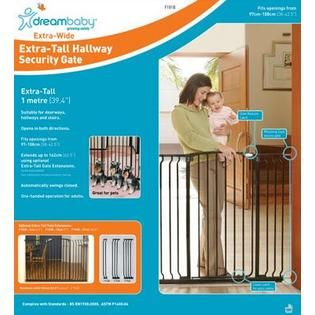 Dreambaby Chelsea Tall Xtra Hallway Swing Closed Security Gate  Black