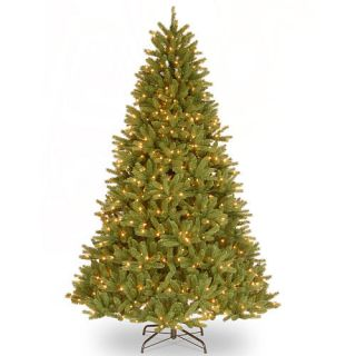 "9' ""Feel Real"" Grande Fir Medium Hinged Tree with 900 Clear Lights    National Tree Company"