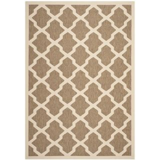 Safavieh Indoor/ Outdoor Courtyard Brown/ Bone Rug (67 x 96