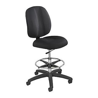 Safco Height Adjustable Polyester Office Chair, Armless, Black