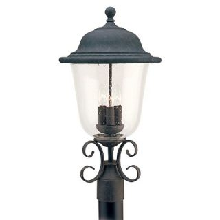 Sea Gull 3 Light Outdoor Post Lantern   Oxidized Bronze