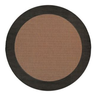 Couristan Recife Checkered Field Black Cocoa & Dark Brown Indoor/Outdoor Area Rug