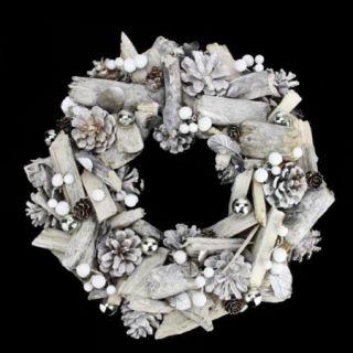 Northlight Seasonal 13'' Driftwood and Pine Cone Artificial Christmas Wreath