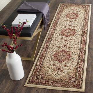 Safavieh Lyndhurst Collection Traditional Ivory/Red Runner (23 x 8