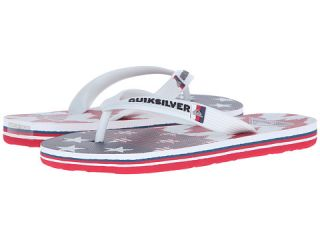 Quiksilver Kids Molokai Remix (Toddler/Little Kid/Big Kid) White/Red/Blue
