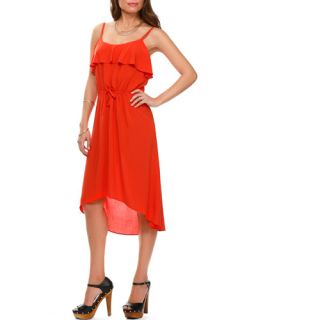 Miss Tina Women's Ruffle Hi lo Dress