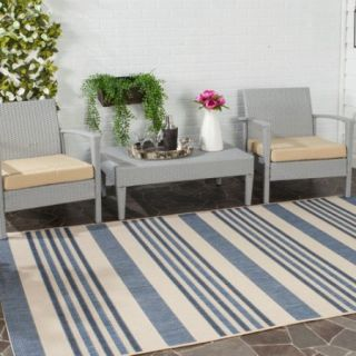 Safavieh Courtyard Area Blue/Beige Rug