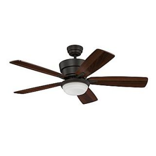 Kendal Lighting 44 Barcelona 5 Blade Fan w/Wall Remote; Barcelona Bronze w/Dark Walnut Blades
