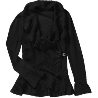 Miss Tina Women's Ruffled Wrap Sweater