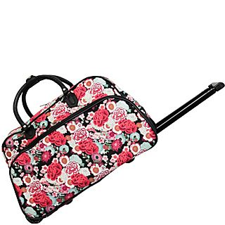 World Traveler Flowers 21 Rolling Duffel Bag