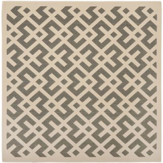 Safavieh Indoor/ Outdoor Courtyard Grey/ Bone Rug (53 Square