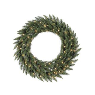 Vickerman Pre Lit 60 in Camdon Fir Artificial Christmas Wreath with 180 Count LED Lights