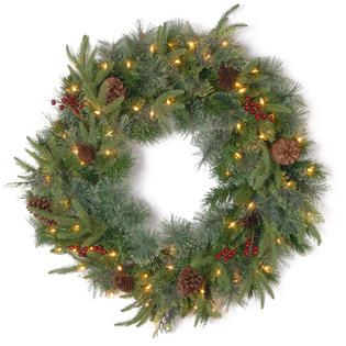National Tree Company 30 FEEL REAL® Colonial Wreath with Clear