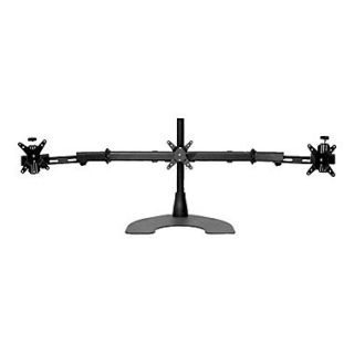 Ergotech 100 D16 B03 TW 16 Triple LCD Monitor Desk Stand With Telescoping Wings, Black