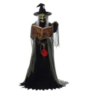 "5'8"" Spell Speaking Witch Animated Halloween Prop"