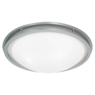 Access Lighting Aztec 17 in W Brushed Steel Ceiling Flush Mount Light