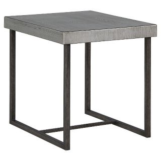 Rasmin Rectangular End Table   Silver Finish   Signature Design by