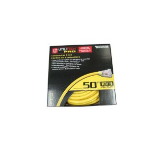 Utilitech 50 ft 10 Gauge Outdoor Contractor Extension Cord