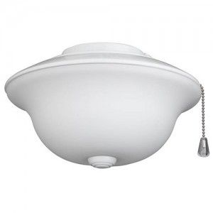 Nutone LK20FWWH Fan, Traditional Indoor Ceiling Fan Light Kit with Frosted White Glass   White Trim