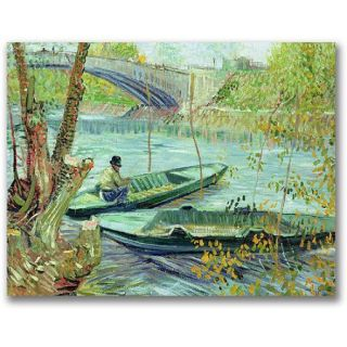 "Trademark Fine Art ""Fishing In The Spring"" Canvas Wall Art by Vincent van Gogh"