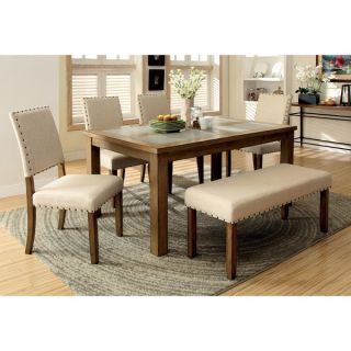 Furniture of America Veronte Stone Top Dining Table   16950869