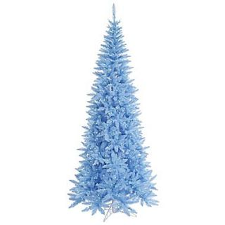 Vickerman 5.5 Sky Blue Slim Fir Artificial Christmas Tree with 300 Mini Lights