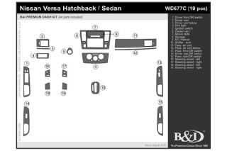 2007 2013 Nissan Versa Wood Dash Kits   B&I WD677C DCF   B&I Dash Kits