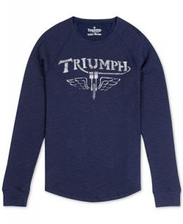 Lucky Brand Triumph Graphic Thermal T Shirt   T Shirts   Men