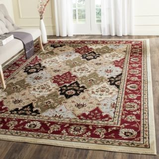 Safavieh Lyndhurst Collection Multicolor/ Red Rug (9 x 12