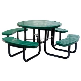 N/A Thermoplastic Round Perforated metal Picnic Table