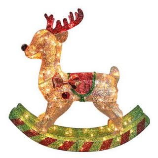 Sylvania Gold Mesh Rocking Horse Christmas Lawn Decoration, Lighted, 36 In. Model# V53945 88