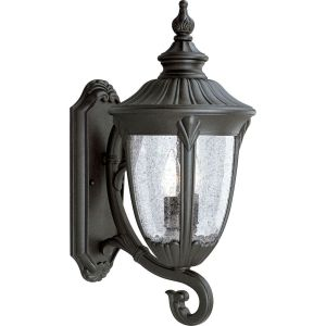 Progress Lighting P5823 31 Meridian Textured Black  Outdoor Sconce Lighting