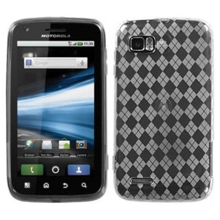 INSTEN T Clear Argyle Payne Candy Skin Phone Case Cover for Motorola