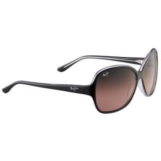 Maui Jim Maile Sunglasses   Black/Crystal Frame with Maui Rose Lens