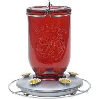 Perky Pet Red Mason Jar Hummingbird Feeder