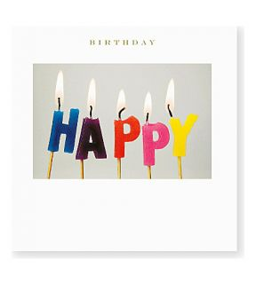 SUSAN OHANLON   Happy Birthday Candles card