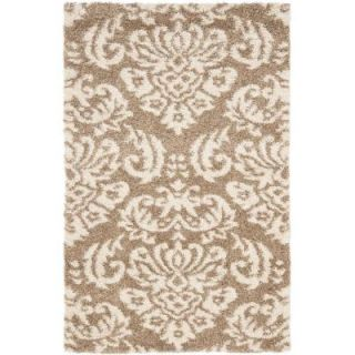 Safavieh Florida Shag Beige/Cream 3 ft. 3 in. x 5 ft. 3 in. Area Rug SG460 1311 3