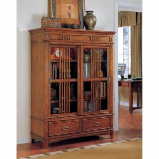kathy ireland Mission Hills Sliding Door Wood Bookcase   Bookcases