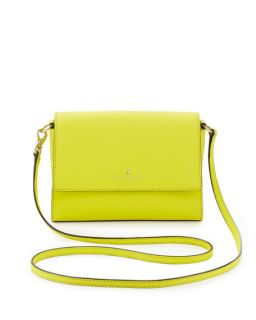 kate spade new york cedar street magnolia crossbody bag, vivid yellow