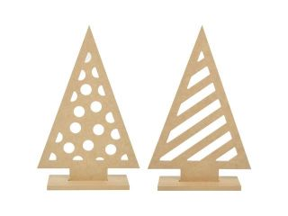 "Beyond The Page Mdf Funky Trees 2/Pkg 13""X8.5""X2.75"""