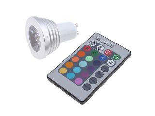 3W GU10 16 Colors Changing RGB LED Light Bulb With Wireless Remote