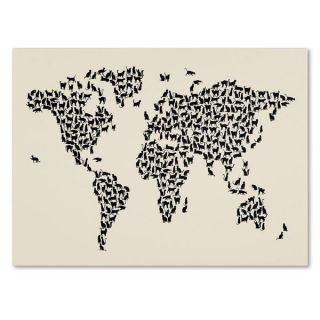 Michael Tompsett Cats World Map 2 Canvas Art   15478611