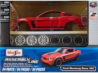 Maisto AL 2012 Ford Mustang Boss 302 Kit (Colors May Vary), Scale 1:24 MAIS9269 MAISTO