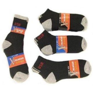 Bulk Buys Mens Quarter Cotton Sports Socks   Case of 240