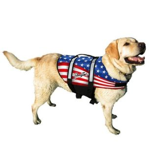 Pawz Pet Products Nylon Dog Life Jacket American Flag   17286109