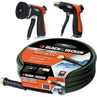 Black & Decker 5/8 Heavy Duty Garden Hose with Nozzle, 50