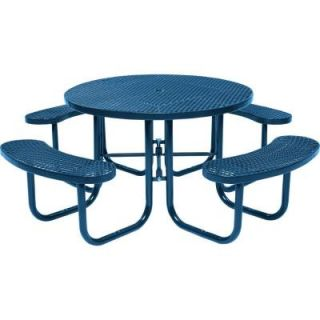 Tradewinds Park 46 in. Blue Commercial Round Picnic Table HD D051GS BL