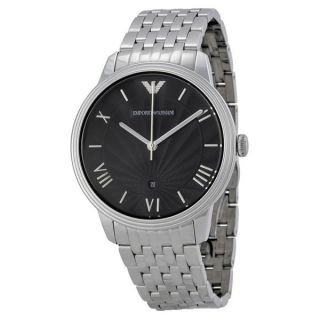 Emporio Armani Mens Classic AR2477 Silver Stainless Steel Analog