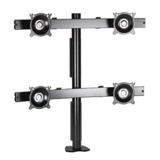 Chief KTC440 Flat Panel Quad Horizontal Desk Clamp Mount, Silver KTC440S